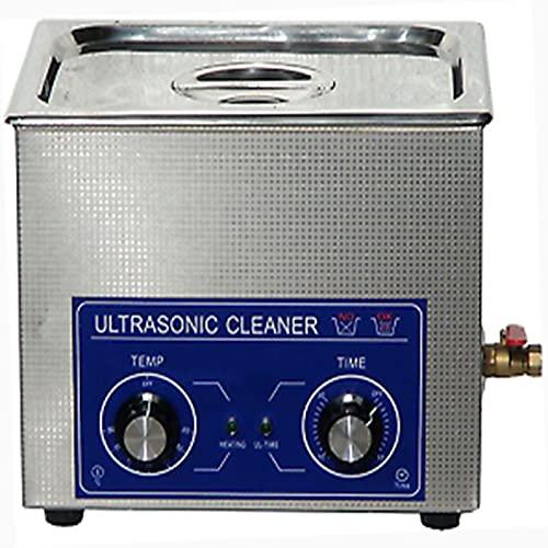 LANTRO JS – Nettoyeur à ultrasons, nettoyeur à ultrasons industriel en acier inoxydable avec minuterie de chauffage, machine à réservoir de nettoyeur à ultrasons avec panier(3L)