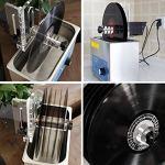Nettoyeur à ultrasons LP Vinyl Record Liftable utilise la Technologie ultrasonique pour Nettoyer en Profondeur 1-6 disques Vinyle