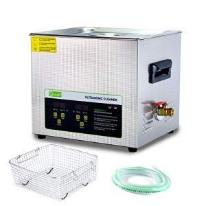 Nettoyeur à ultrasons professionnel à fonctionnement numérique 10L,avec panier et minuterie, pour le nettoyage Grand circuit imprimé, Pieces en metal, Outil, Légumes, Bijoux, Lame, etc.
