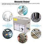 Professionnel Nettoyeur numérique à ultrasons, 6 x nettoyeurs à ultrasons avec fonction de dénivelage de bijoux, lames pour lunettes, chaînes, bagues, lunettes (EU220 V)