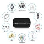Reesibi Nettoyeur à ultrasons portable à ultrasons avec support de montre et fonction minuteur – 430 ml – Batterie 2500 mAh – 46000 Hz