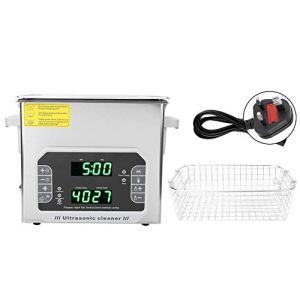 DK-300PF Nettoyeur ultrasonique multifonction en acier inoxydable pour bijoux, bagues, montres, pièces de monnaie 3,2 l