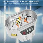 Nettoyant pour bijoux, 600 ml 40 KHz affichage à 2 chiffres nettoyeur à ultrasons réservoir CN Plug nettoyeur à ultrasons fonction de synchronisation pour les laboratoires