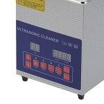 Nettoyeur à ultrasons, nettoyeurs à ultrasons de laboratoire professionnel pour bijoux pour circuit imprimé pour lunettes pour montres(European standard AC200-240V, pink)