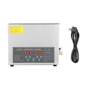 Nettoyeur à ultrasons, machine de nettoyage à ultrasons numérique à double fréquence en acier inoxydable 10L