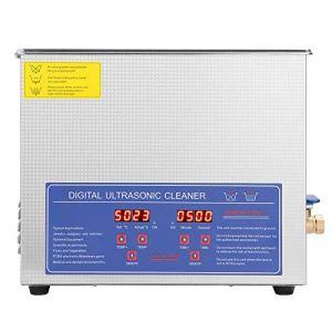 Nettoyeur à ultrasons, nettoyeur à ultrasons numérique en acier inoxydable durable 10L nettoyeur de montre à ultrasons pour commercial pour bijoux