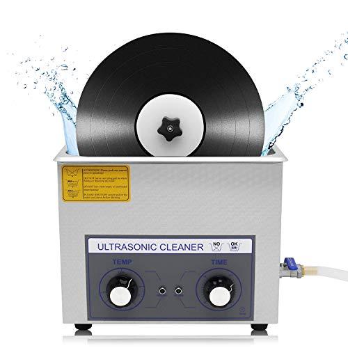 CGOLDENWALL PS-30 Vinyle 6L nettoyeur à ultrasons Ultrasons machine de nettoyage professionnel en acier inoxydable industriel nettoyeur à ultrasons Lunettes Bijoux pour dentier Aspirateur 6 Discs