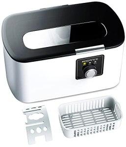Hogance Nettoyeur à ultrasons 43 000 Hz – Multifonction – Nettoyeur sonore numérique pour montres, prothèses dentaires, lunettes, rasoirs, 500 ml SUS304, Pro modèle SU-743B