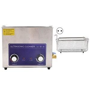 Nettoyeur à Ultrasons Professionnel 6L, Nettoyeur à Ultrasons pour L'industrie Numérique en Acier Inoxydable Machine à laver à ultrasons Machine de nettoyage industrielle(EU Plug)