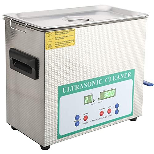 Nettoyeur de bijoux à ultrasons, 180W Machine de nettoyage de bagues pratique pour lunettes pour pièces de monnaie pour bagues (prise européenne AC220V)