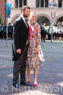 Prince Casimir zu Sayn-Wittgenstein-Sayn and Alana Bunte.