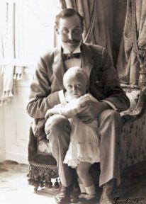King Haakon and Prince Olav of Norway.