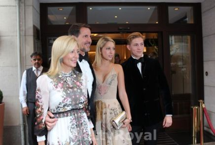 Crown Prince Pavlos and Crown Princess Marie-Chantal of Greece with their eldest children.