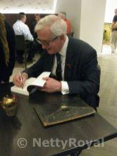 Hugo Vickers signing books