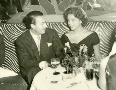 Alfonso and Ira at El Morocco, New York, during their honeymoon 1955
