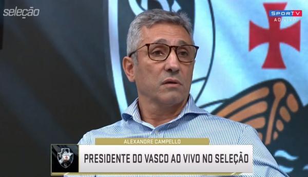 Alexandre Campello falou sobre os problemas do Vasco durante participação no