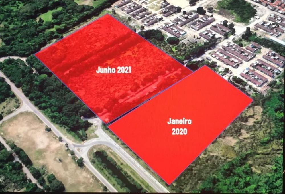Primeiros campos ficarão prontos em área que que não tem ocupação de terra