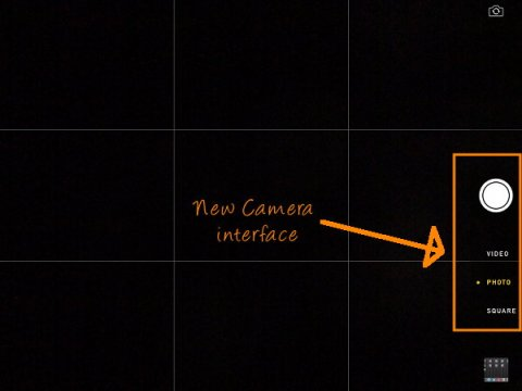 iPad Camera interface after ios7