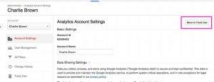 Delete Account in Google Analytics