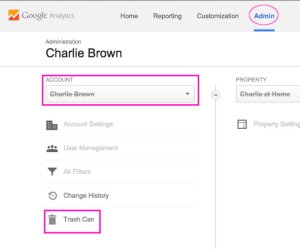 How to restore a deleted account in Google Analytics