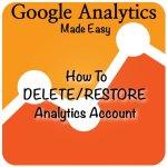 How to delete account in Google Analytics