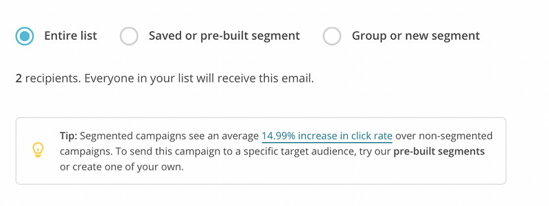 mailchimp how to create a new campaign