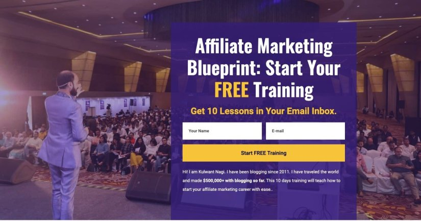 bloggingcage affiliate marketing email course