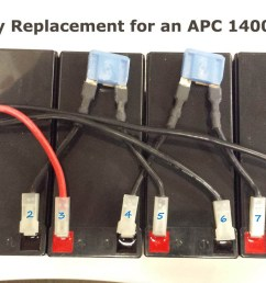 how to replace batteries on an apc 1400xl rack mount ups with wiring diagram [ 1238 x 726 Pixel ]