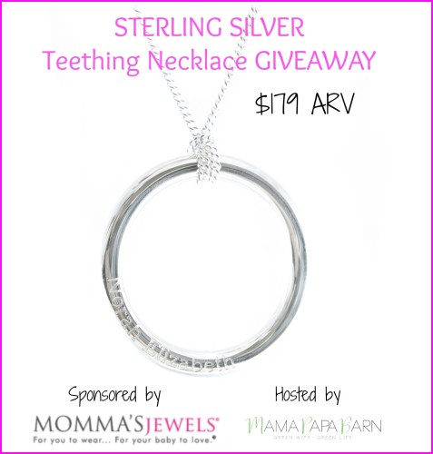 Beautiful Sterling Silver Teething Necklace.