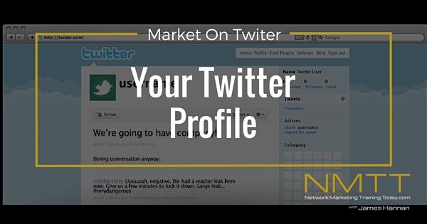 Market On Twitter: Setup your twitter profile