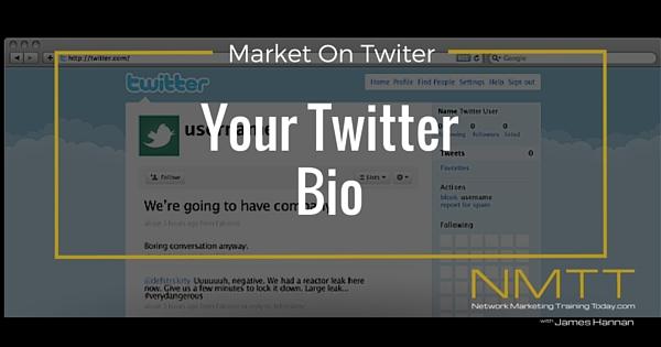Designing your Twitter Bio