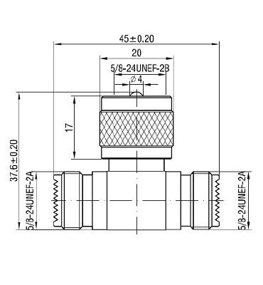 UHF J/P/J T-Adaptor