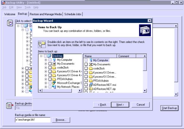 Windows NT Backup
