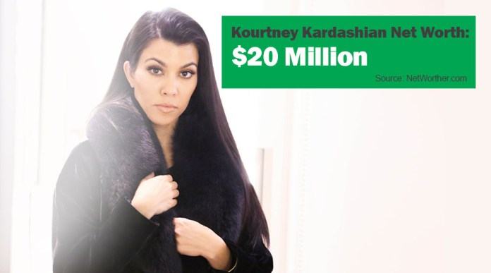 kourtney kardashian net worth 2016