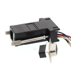 picture of modular adapter kit db9 female to rj11 rj12 black  [ 3200 x 2400 Pixel ]