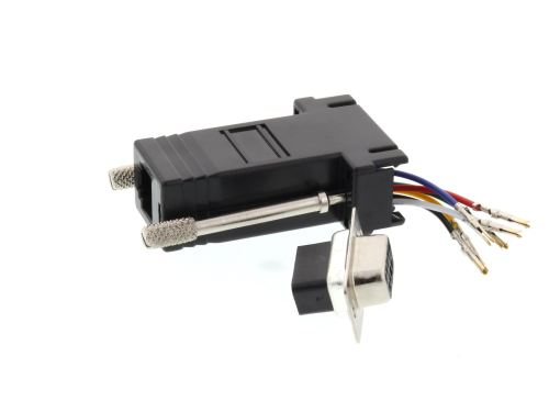 small resolution of  picture of modular adapter kit db9 female to rj11 rj12 black