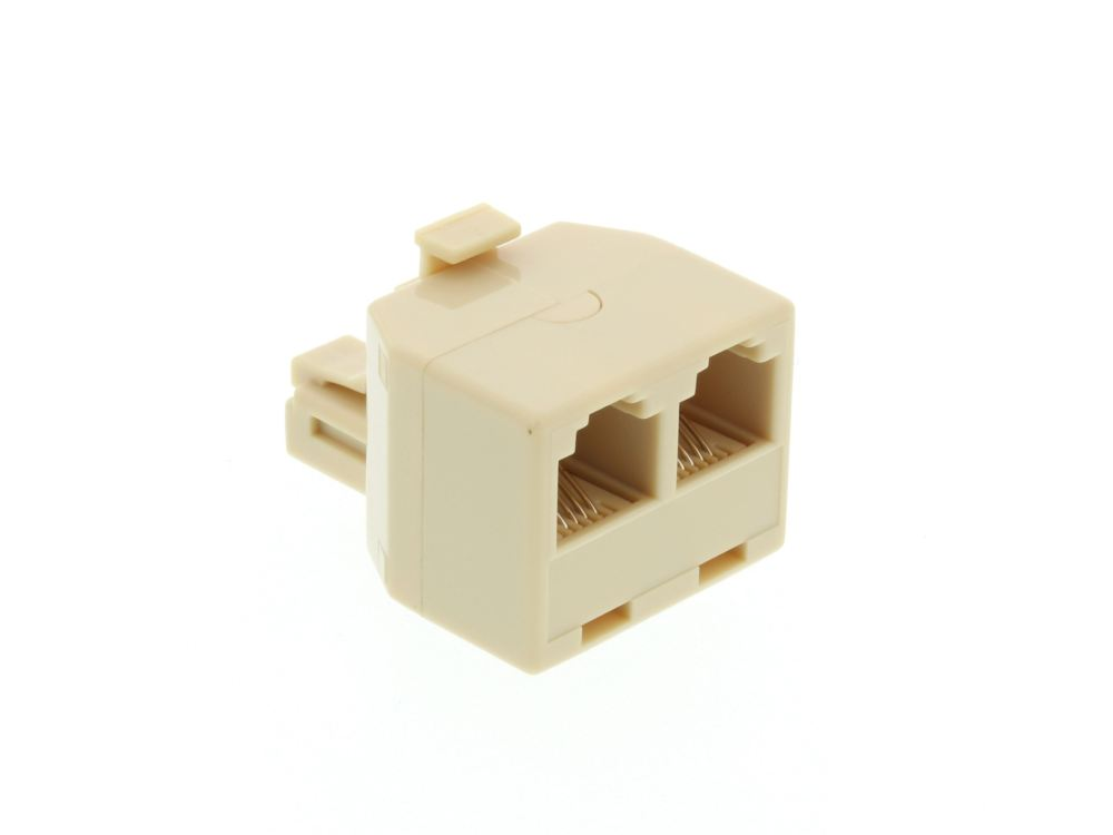 medium resolution of networx modular voice t adapter 1 male to 2 female rj11 6p4cpicture of modular voice