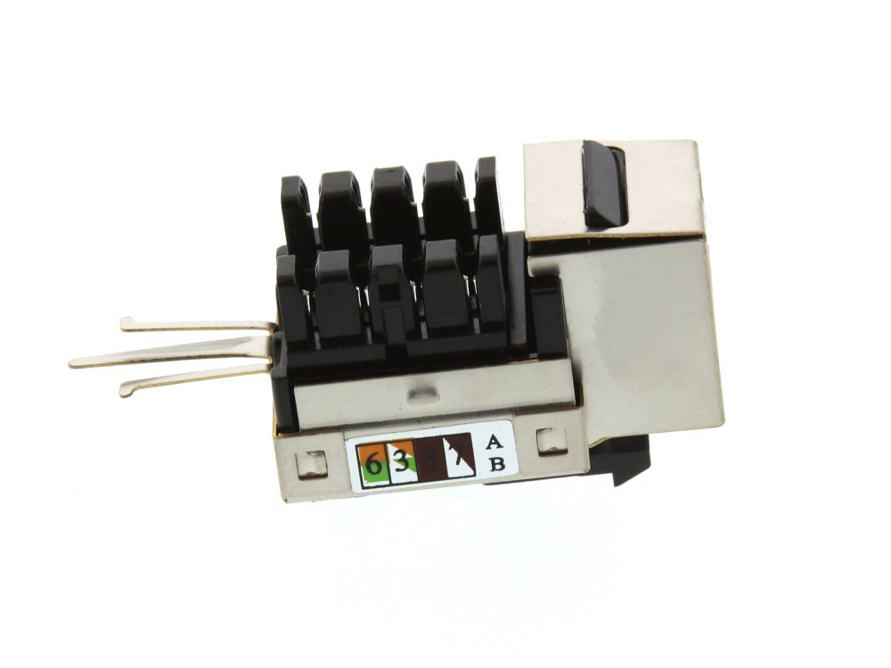 medium resolution of  picture of cat5e shielded keystone jack