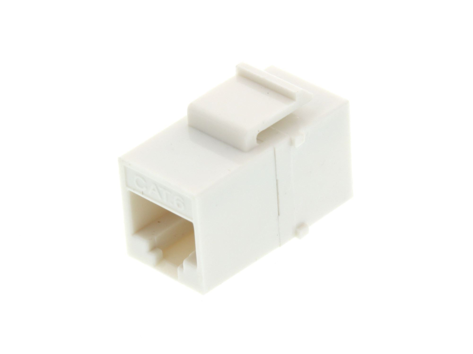 hight resolution of  picture of rj45 cat6 keystone jack pass through panel mount white