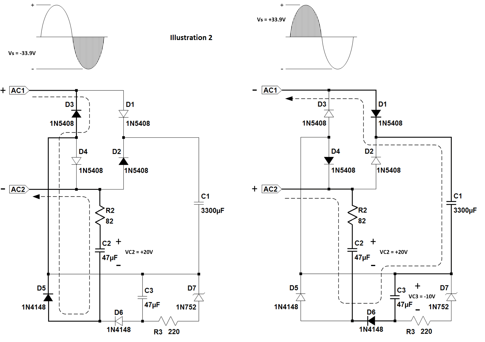 hight resolution of for this supply to work correctly the transformer must have a secondary voltage of at least 18v rms see illustration 2 below