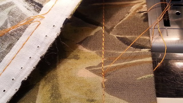 Redoing break in continuous stitching