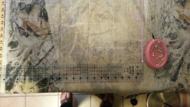 Pin pattern along fold line