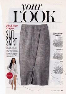 Angle Zipped Pencil Skirt