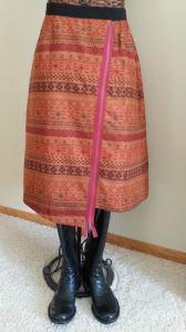 Mid-Calf Aztec Skirt
