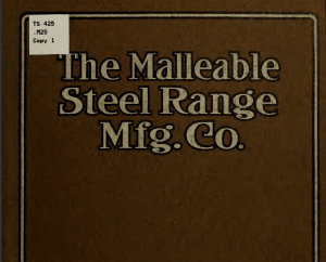 1904 Advertising booklet from The Malleable Steel Range Mfg. Co