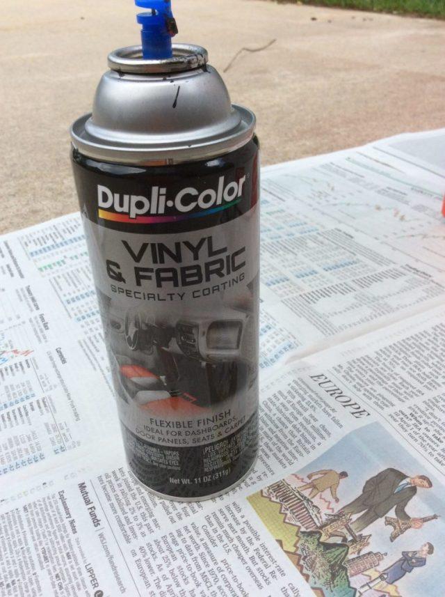 Vinyl spray dye