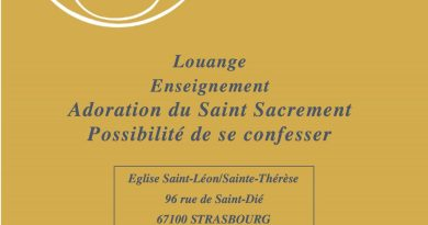 22 février: veillée de prière à Saint-Léon à 20h30