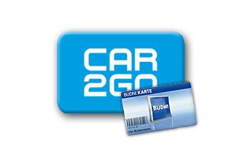 car2go mit Budni-Karte