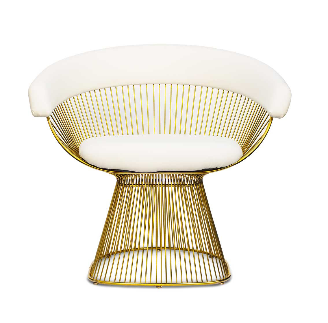 steel chair gold rio high boy beach wire with white leather neuerraum