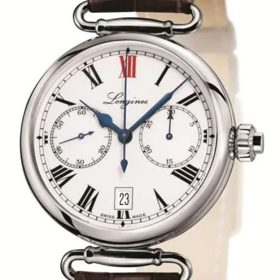 The Longines Column Wheel singel push piece chrono